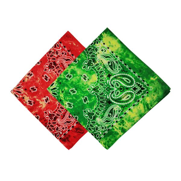 100% Cotton Tie Dye Print Paisley Bandana