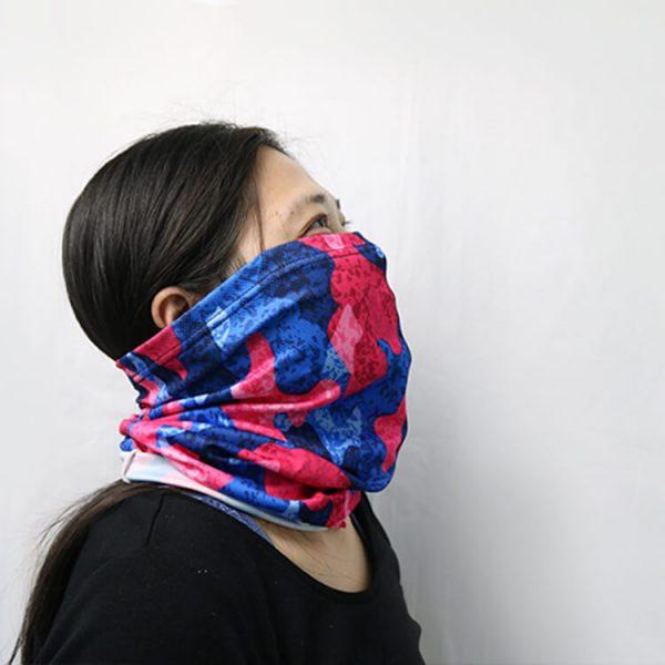 Custom Mesh Headwear Breath Face Scarf Balaclava Sport Motorcycle Cycling Face Bandana