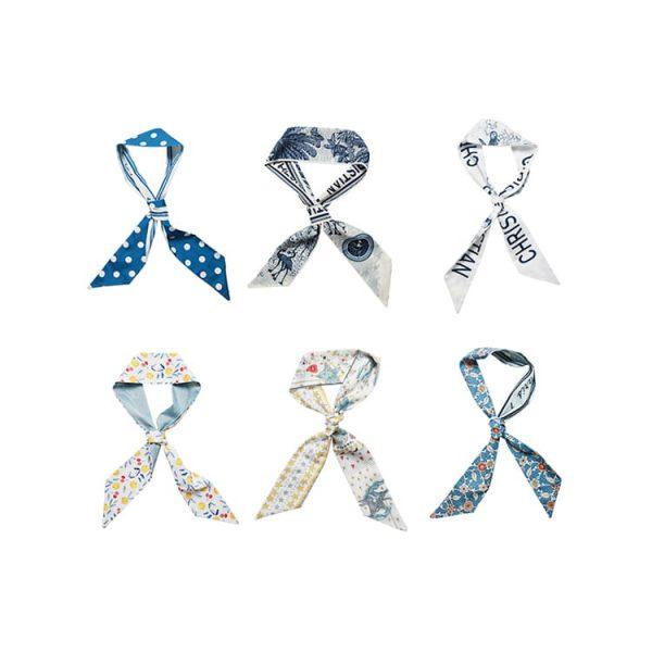 Custom Scarf Scrunchies for Women Handbag Hand Ribbon Hair Accessory