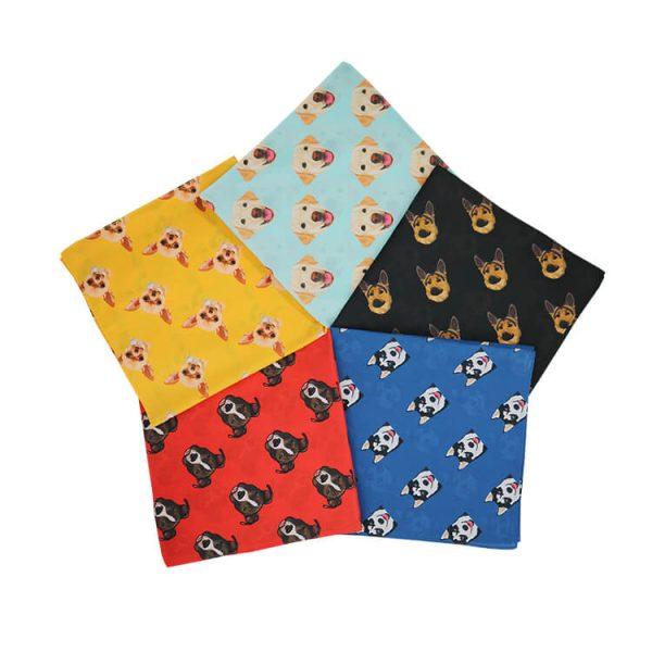 Wholesale Custom Printed Pet Cotton Plaid Dog Bandanas
