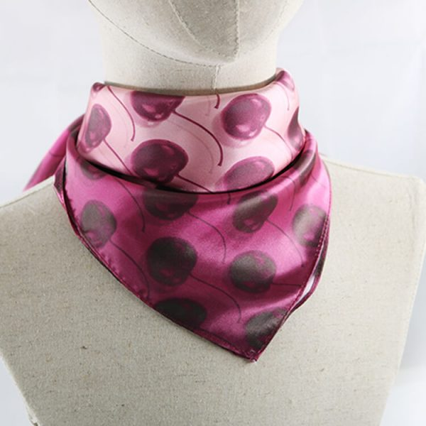 Customized Design Your Own Cotton Bandana Square Satin Silk Bandan