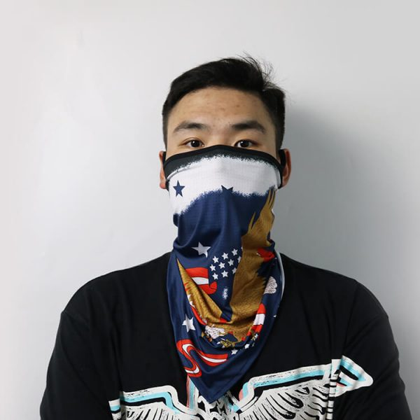 Factory wholesale face cover ear loop neck gaiter bandana for dust wind