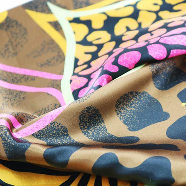 High quality square satin custom logo sublimation print bandana