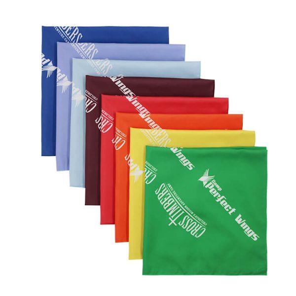 Multicolor Polyester Fabric 22 Inch Square Bandana Custom Logo Bandannas (4)