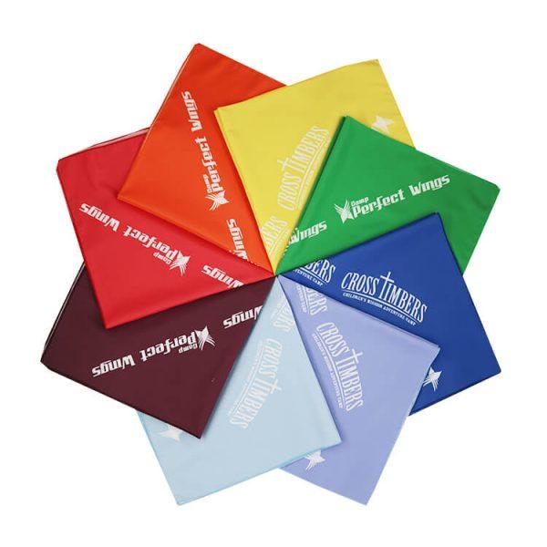 Multicolor Polyester Fabric 22 Inch Square Bandana Custom Logo Bandannas (5)