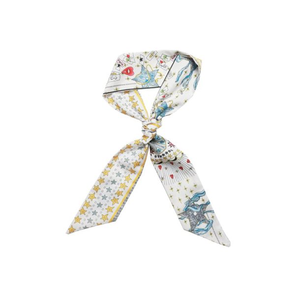 Wholesale Narrow Ribbon Band Custom Printing Silk Scarf for Women