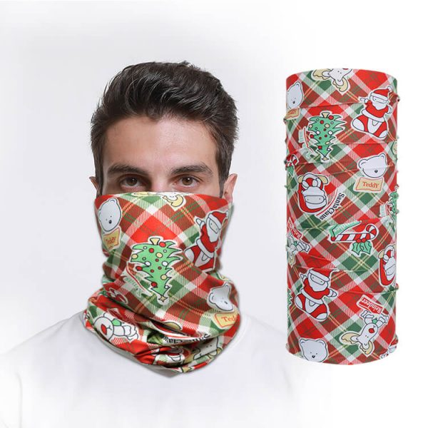 Wholesale UV sunscreen milk fiber colourful custom tubular seamless bandana