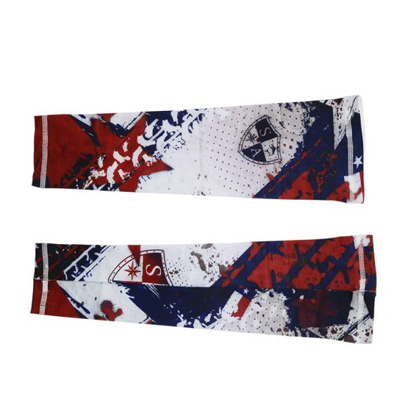 Wholesale summer promotional cycling running custom printed design arm sleeves
