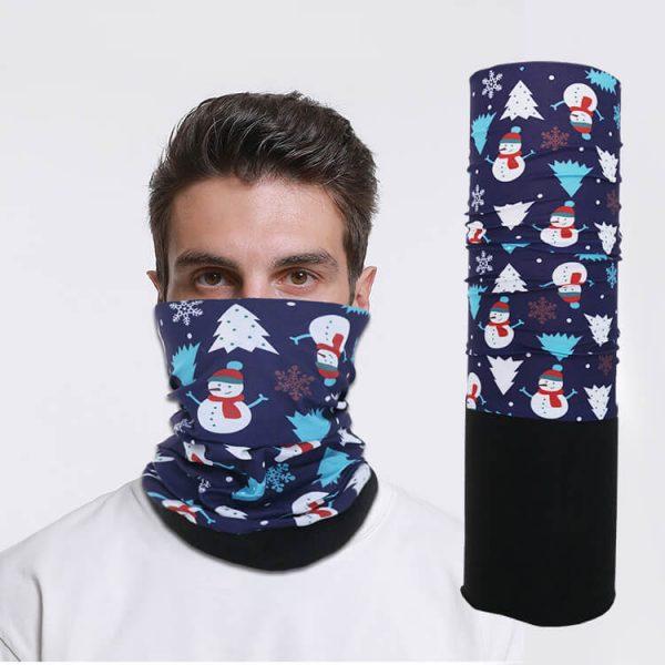 Winter fishing polar fleece neck gaiter tube face mask bandana