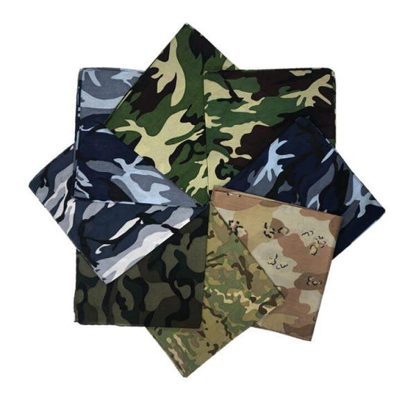 Custom logo cotton camouflage bandana in stock