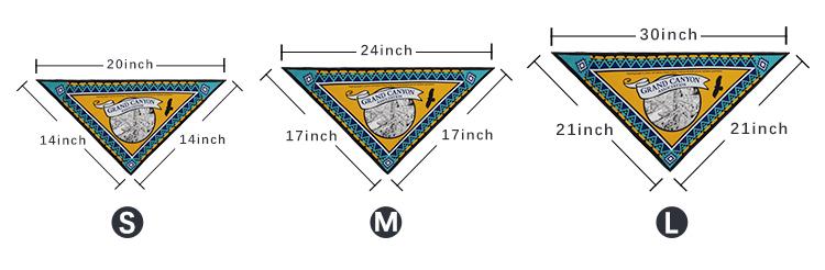Dog bandana size chart