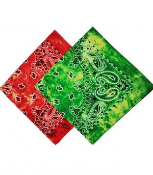 100% Cotton Tie Dye Print Paisley Bandana (1)